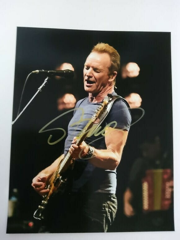 FOTO STING Autografata Signed + COA Photo STING Autografata Signed