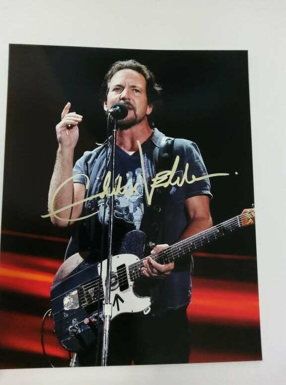 FOTO Eddie Vedder Autografata Signed + COA Photo Eddie Vedder Autografata Signed