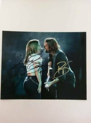FOTO Bradley Cooper and Lady Gaga in A Star Is Born Autografata Signed + COA Photo Bradley Cooper and Lady Gaga in A Star Is Born Autografata Signed