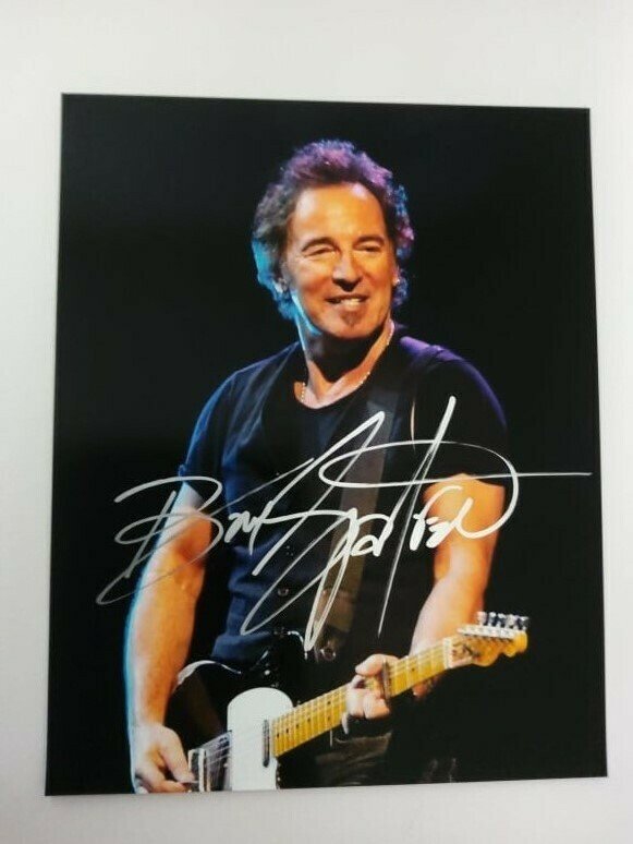 FOTO Bruce Frederick Joseph Springsteen Autografata Signed + COA Photo Bruce Frederick Joseph Springsteen Autografata Signed