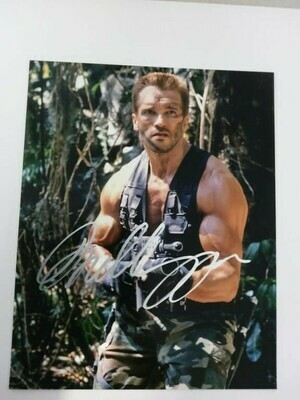 FOTO Arnold Schwarzenegger Predator 1987 Autografata Signed + COA Photo Arnold Schwarzenegger Predator 87 Autografato Signed