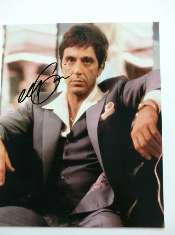 FOTO Al Pacino in Scarface 1983 Tony Montana Autografata Signed + COA Photo Al Pacino in Scarface 1983 Tony Montana Autografato Signed