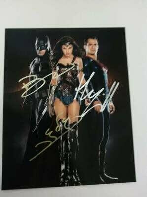 FOTO Batman v Superman Autografata Signed + COA Photo Batman v Superman Autografato Signed