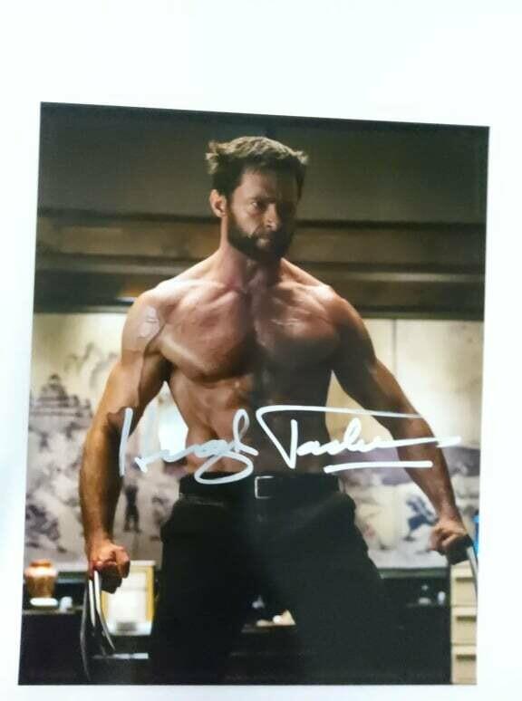 FOTO Hugh Michael Jackman Wolverine Autografata Signed + COA Photo Hugh Michael Jackman Autografato Signed
