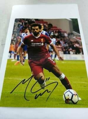 FOTO SALAH  Autografata Signed + COA Photo SALAH Autografato Signed