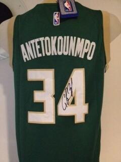 Giannīs Antetokounmpo Milwaukee Jersey NBA Autografata Signed Autograph