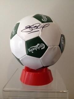 PALLONE STEVEN GERRARD CARSLBERG  Autografato Signed + COA BALL STEVEN GERRARD  SIGNED  Autografato Signed