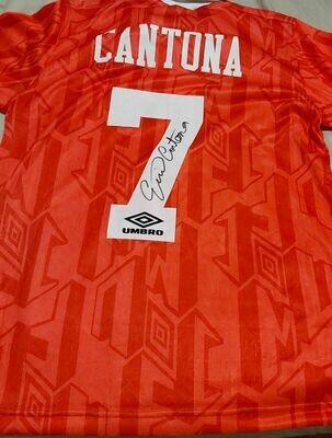 Maglia Manchester United Maglia Casa ERIK CANTONA 7 Signed with COA certificate MAN UTD MANCHESTER UNITED CANTONA 7