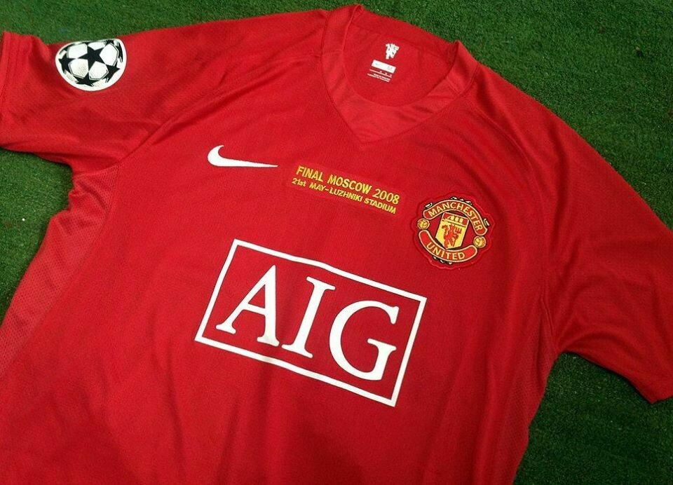 MANCHESTER UNITED MAN UTD JERSEY HOME MAGLIA CASA  FINAL MOSCOW 2008  FINALE MOSCA 08