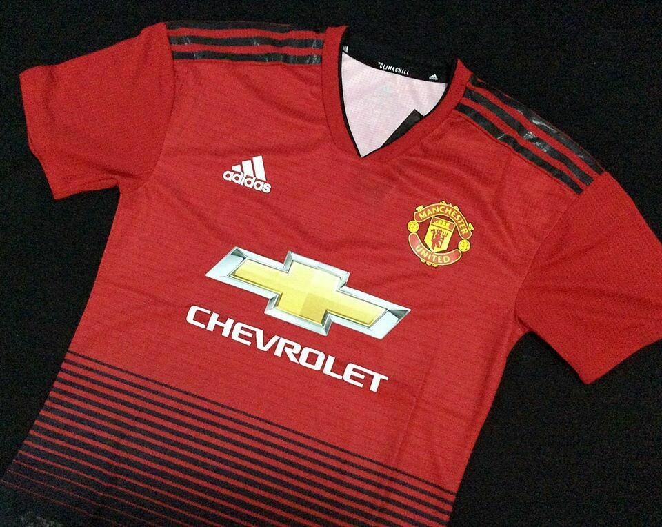MANCHESTER UNITED MAN UTD JERSEY HOME 2018 2019 MAGLIA  PLAYER VERSION