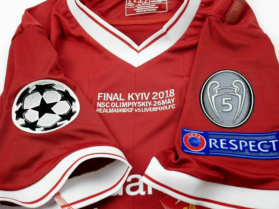LIVERPOOL FINAL UCL KYIV 2018 MAGLIA FINALE CHAMPIONS 2018 CHAMPIONS