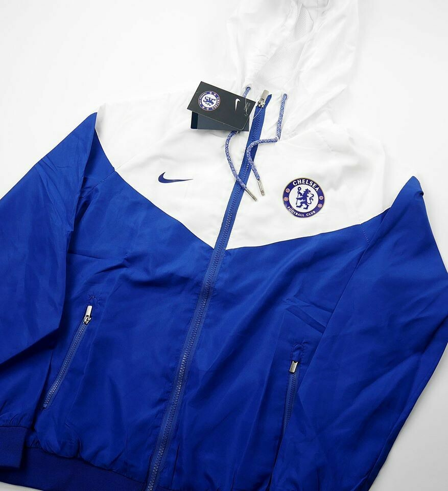 CHELSEA BLUE WHITE WILD COAT 1819 GIACCA