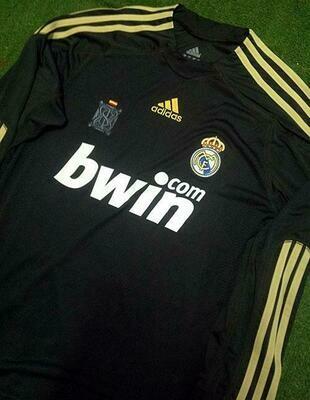 REAL MADRID AWAY 2009-2010 MAGLIA TRASFERTA