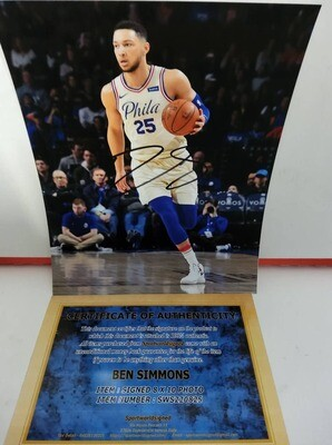 FOTO Ben Simmons Philadelphia Autografata Signed + COA Photo Ben Simmons Philadelphia Autografato Signed