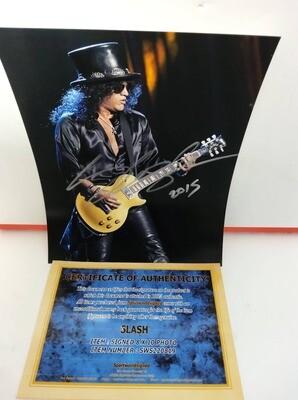 FOTO Slash Guns N' Roses Autografata Signed + COA Photo Slash Guns N' Roses Autografata Signed