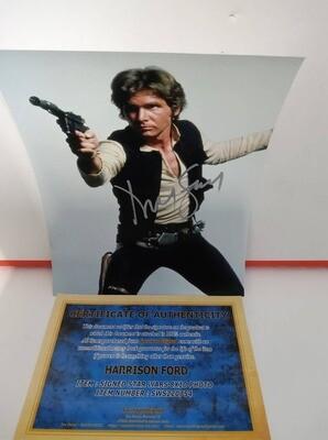 FOTO Harrison Ford Star Wars Han SOLO Autografata Signed + COA Photo Harrison Ford Star Wars Han SOLO Autografato Signed