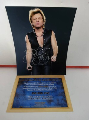 FOTO Jon Bon Jovi Autografata Signed + COA Photo Jon Bon Jovi Autografata Signed