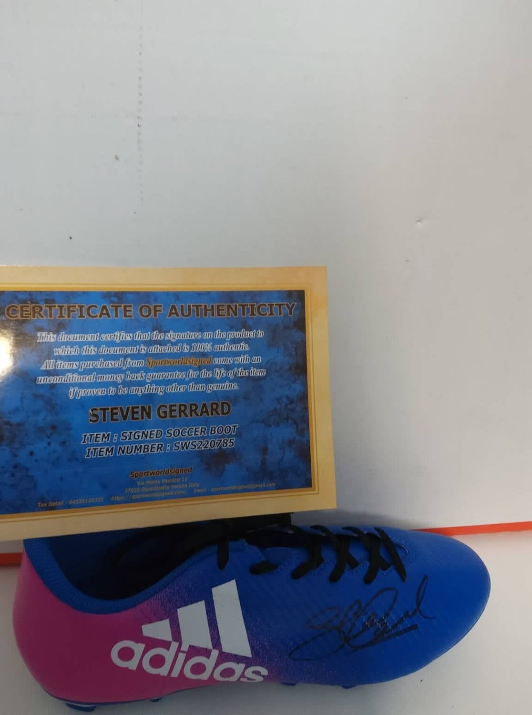 Scarpa Autografata STEVEN GERRARD Signed STEVEN GERRARD with COA certificate