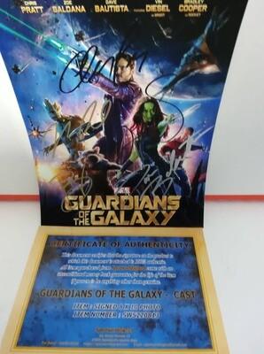 FOTO Guardians of the Galaxy Autografata Signed + COA Photo Guardians of the Galaxy Autografato Signed