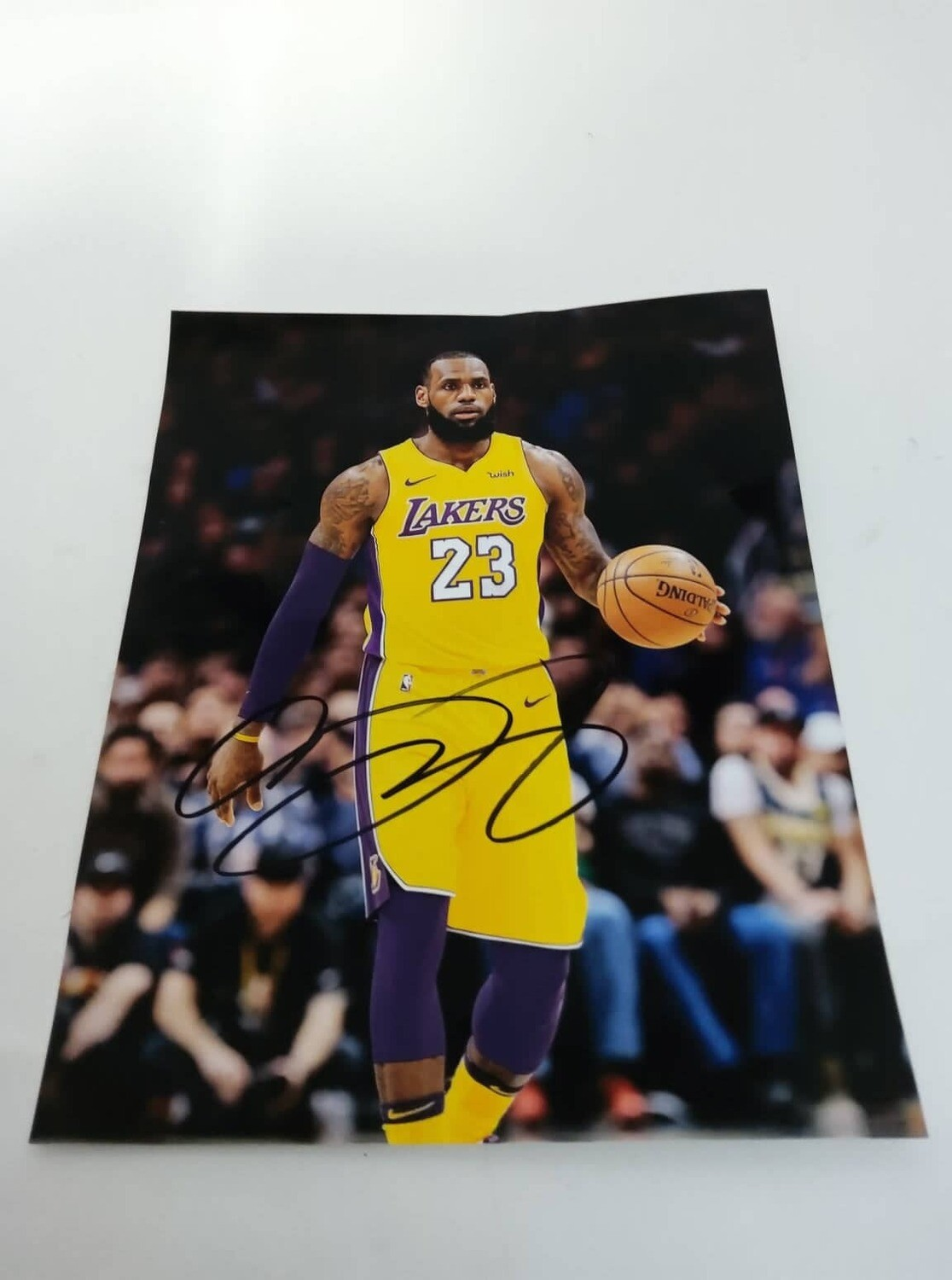FOTO LEBRON JAMES LOS ANGELES LAKERS Autografata Signed + COA Photo LEBRON JAMES Autografato Signed