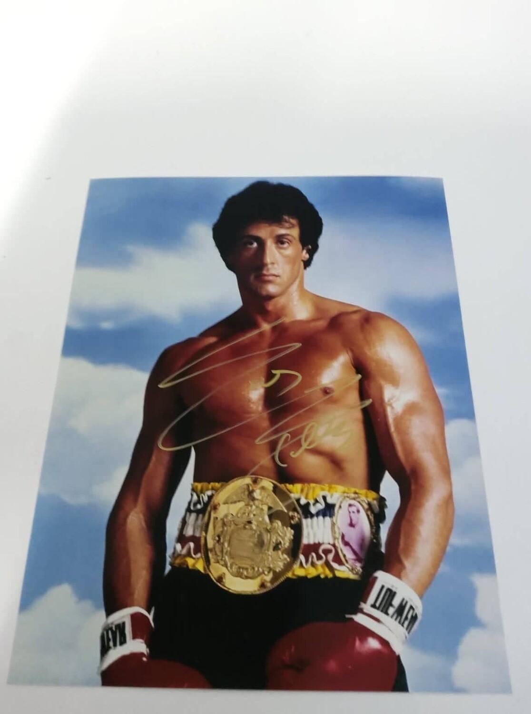 FOTO Rocky Balboa Sylvester Stallone Autografata Signed + COA Photo Rocky Balboa Sylvester Stallone Autografato Signed