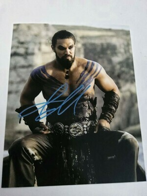 FOTO  Jason Momoa The Game Of Thrones Signed + COA Photo Jason Momoa The Game Of Thrones  Autografato Signed