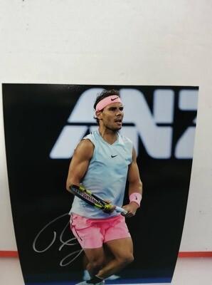 FOTO Rafael Nadal  Autografata Signed + COA Photo Rafael Nadal  Autografato Signed NADAL