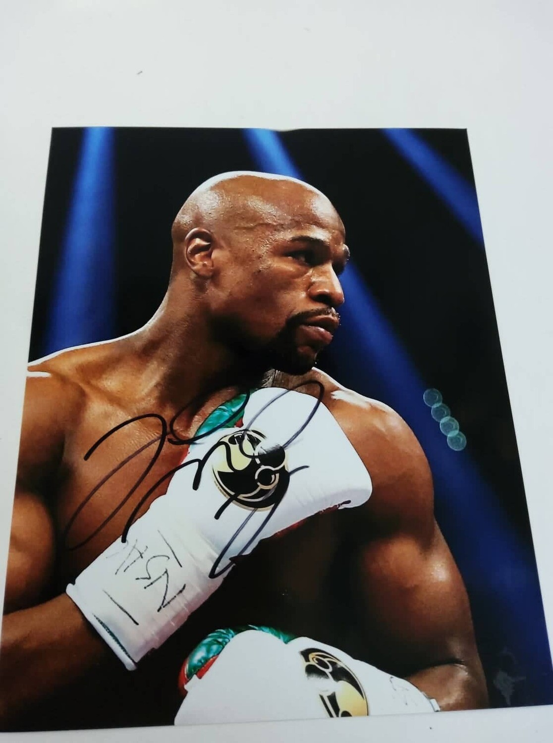 FOTO Floyd Mayweather Jr Autografata Signed + COA Photo Floyd Mayweather Jr Autografato Signed