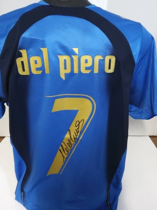 Maglia ITALIA WORLD CUP 2006 GERMANY  Alessandro Del Piero 7 Autografata Signed wich COA certificate Italy World cup 2006  Del Piero  Signed with coa