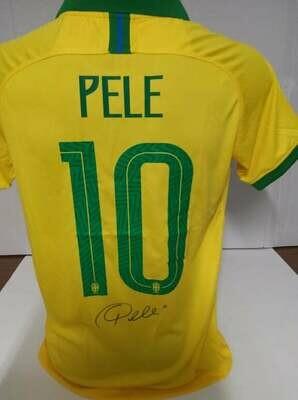 Brasile 2018 Autografata da Pele con certificato di autenticita' Signed From PELE with certificate coa of authetincitiy