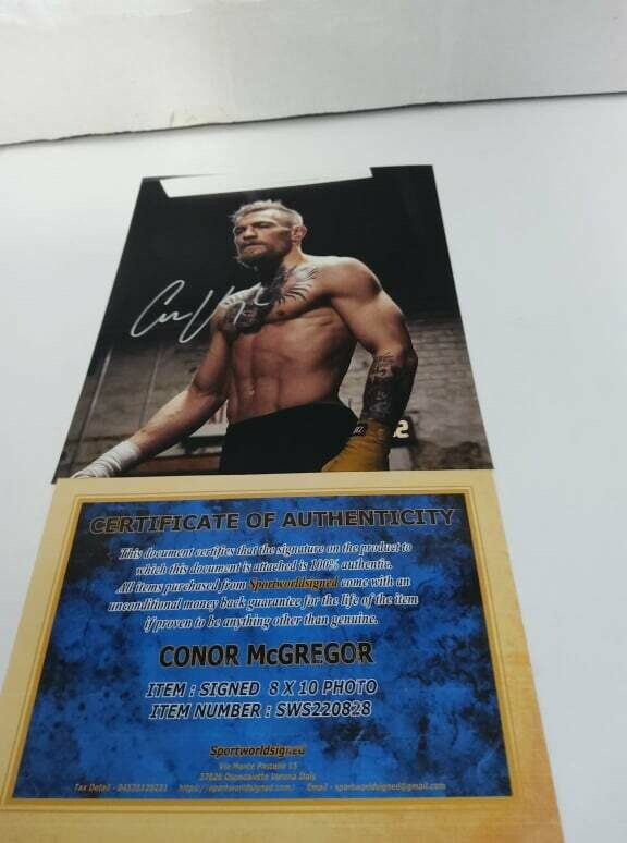 FOTO CONOR MC GREGOR Autografata Signed + COA Photo CONOR MC GREGOR Autografato Signed