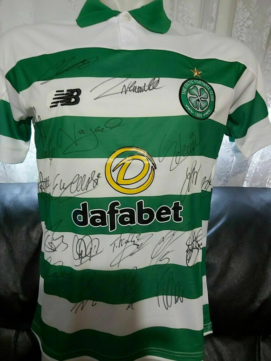 Maglia Replica CELTIC 2019 2020  JERSEY HOME SIGNED TEAM AUTOGRAPHS TEAM  with  COA certificate CELTIC 2019 2020 Signed Team