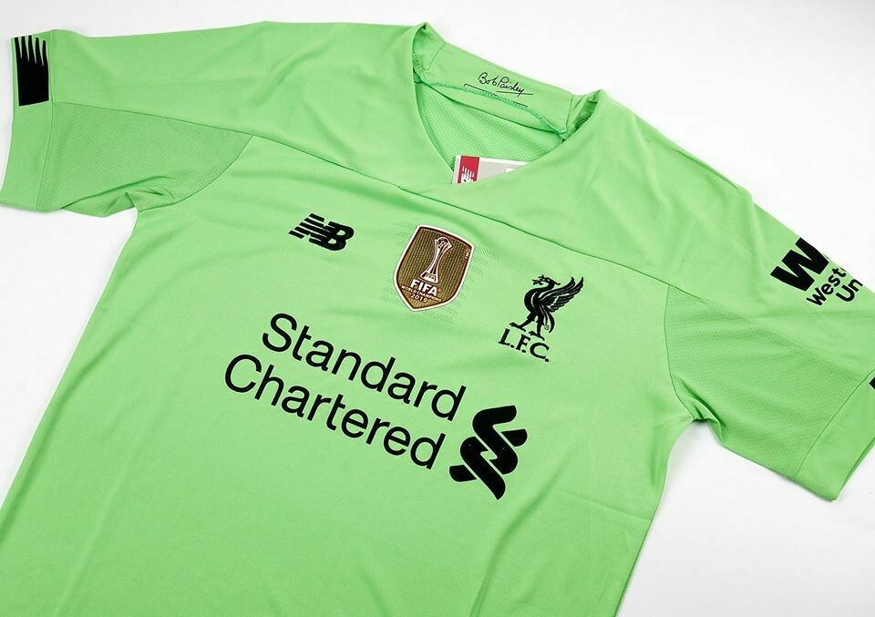 LIVERPOOL MAGLIA PORTIERE JERSEY GOALKEEPER  2020 FULL PATCHES