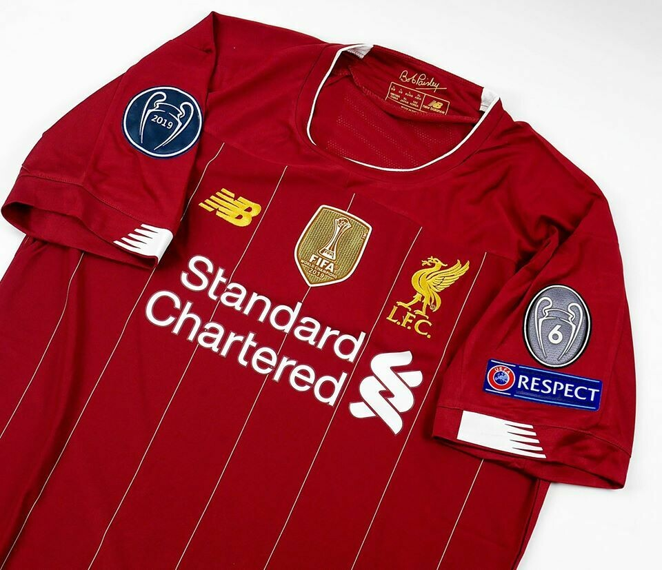 LIVERPOOL MAGLIA CASA JERSEY HOME 2019 2020 FULL PATCHES