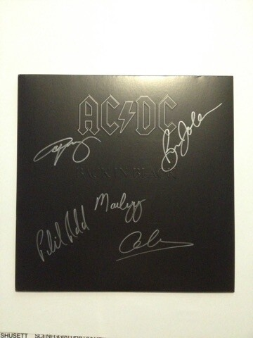Acdc signed record  Autografata AC DC Signed Autograph Group Gruppo AC DC