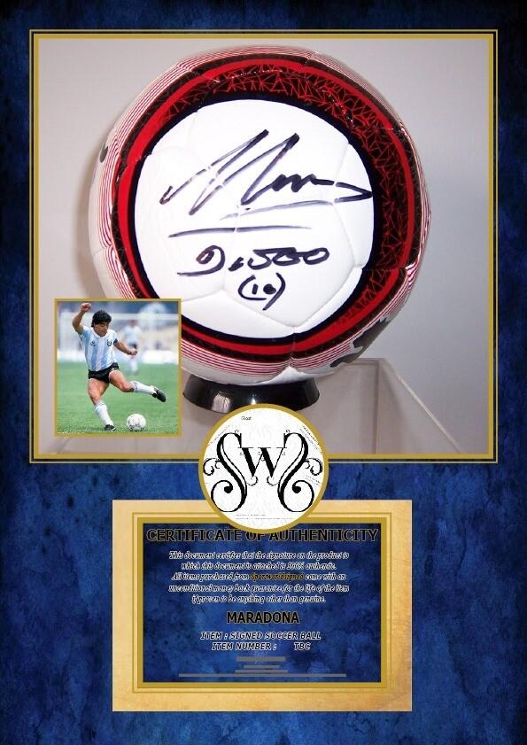 PALLONE DIEGO ARMANDO MARADONA ARGENTINA   Autografato Signed + COA BALL ARGENTINA DIEGO ARMANDO MARADONA SIGNED  Autografato Signed