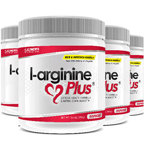 4 tubs of L-Arginine Plus™ (120 day supply) 2500 IUs of vitamin D3 – Choice of Raspberry or Lime Lemon