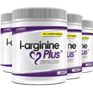 4 tubs of L-Arginine Plus™ (120 day supply) 2500 IUs of vitamin D3 – Grape Flavour