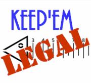 Keep-Em Legal Fish Measuring Stencils
