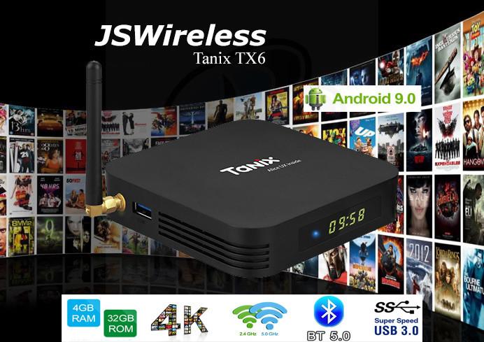 TX6 TV Box Quad Core ARM A53 AllWinner H6 Android 9.0