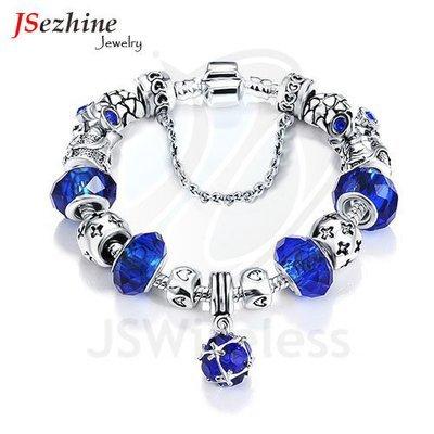 Antique Silver Original Women Glass Charm Bracelet & Bangle Fit Charm