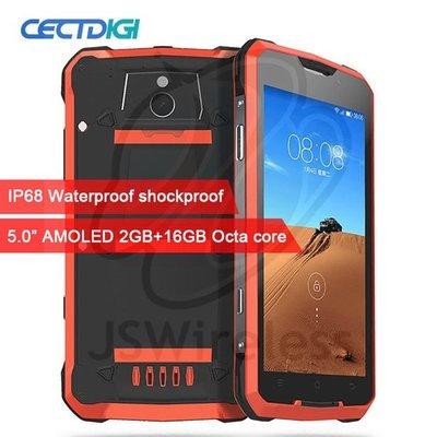 Smartphone IP68 Waterproof Shockproof 5.0 inch AMOLED MTK6752 Octa Core 2GB RAM 16G ROM Dual 4G 16.0MP Camara