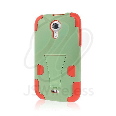 MPERO IMPACT X Series Kickstand Case for BLU Studio 5.0 - Coral / Mint