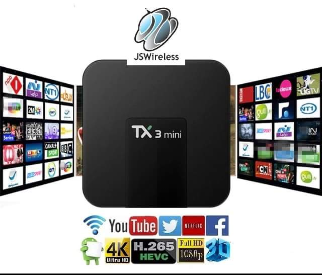 TX3 TV Box Quad Core 64bit Amlogic S905W Android 7.1