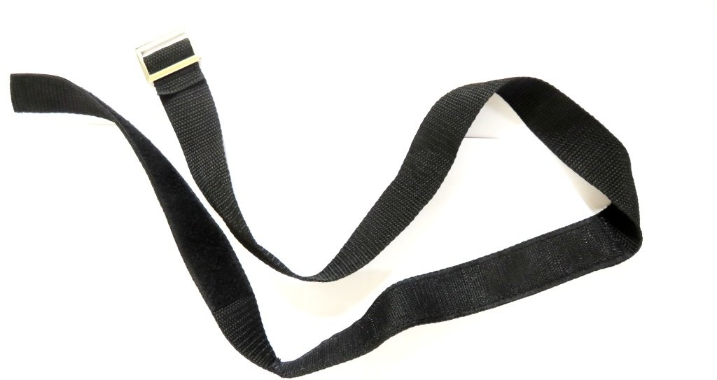 Lower bag strap Buckled Velcro strap 121