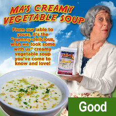 Ma's Creamy Vegetable Soup (2 Pack) $18.22 plus $10.00 S+H