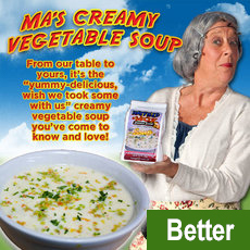Ma's Creamy Vegetable Soup (Buy 4 Get 1 Free Pack) $36.44 plus $15.00 S+H