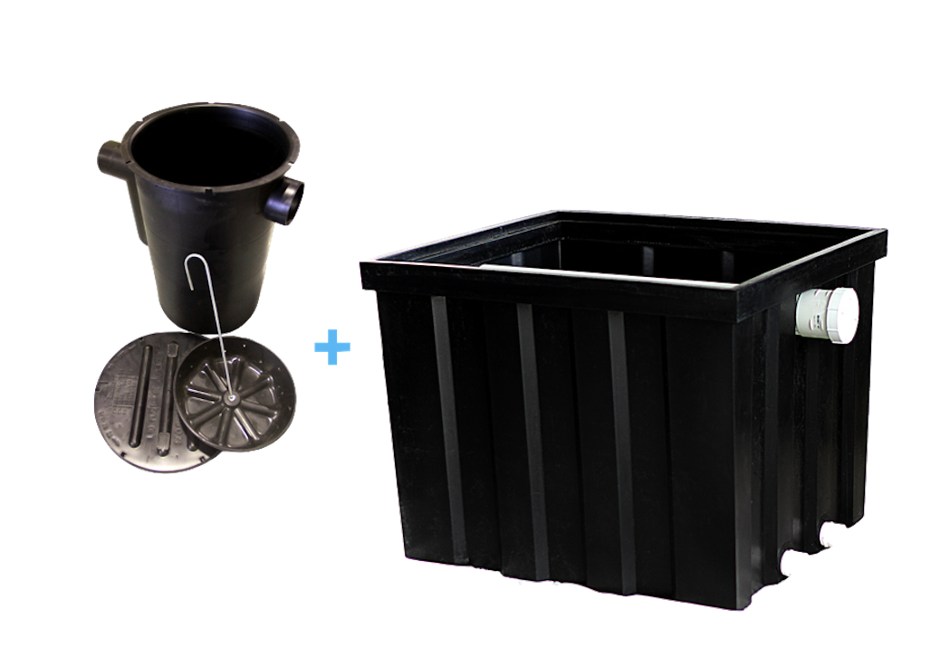 Nature Clear Greywater Sand Prefilter 450 Litre + 45 Litre Grease Trap