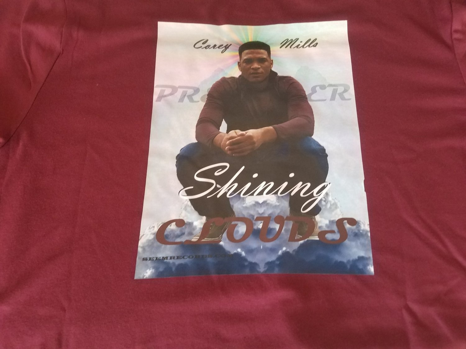 Wine T-shirt (Shining Clouds)