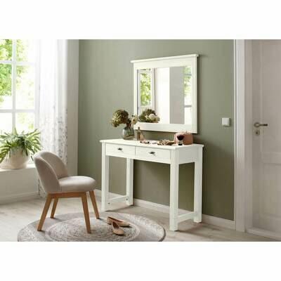 арт. 3001  NEW Столик туалетный Рауна с зеркалом Ш1140xГ480xВ820